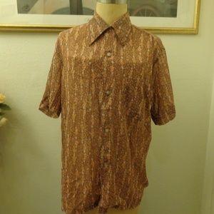 Vintage Da Di Floral Print Short Sleeve Shirt